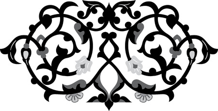 Decorative design element, vector file, Grayscale