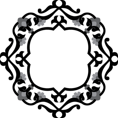 Decorative design element, vector file, Grayscale Vector