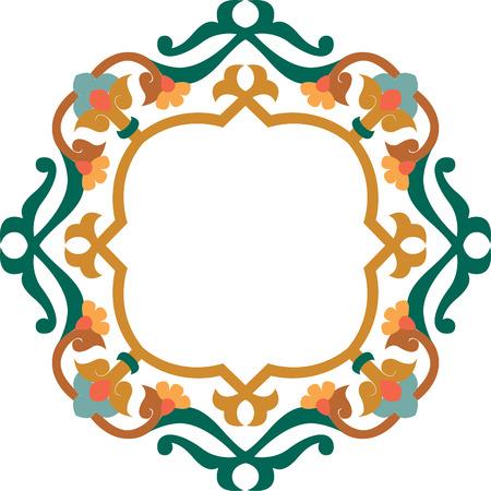 antique frames: Elemento de dise�o decorativo, archivos de vectores, de color