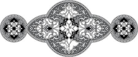 Decorative design element, vector file, Grayscale Vector