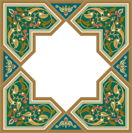 Arabesque design element, vector file, Colored Vector