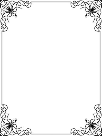 Eenvoudige lijnen, grens frame, vector design
