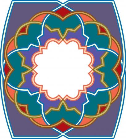 Arabesque design element, vector file, Colored Vector