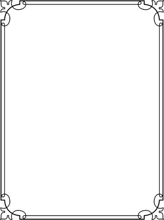 Simple lines, border frame, vector design Vector