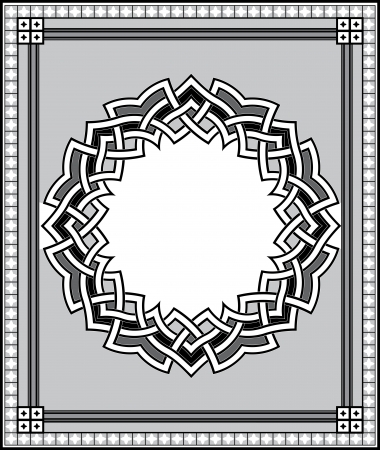 Arabesque design element, vector file, Grayscale Stock Vector - 24306554