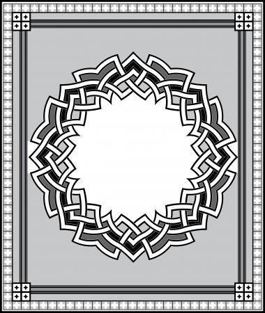 antique frames: Elemento de dise�o Arabesque, archivos de vectores, de escala de grises