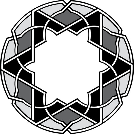 Arabesque Design-Element, Vektor-Datei, Graustufen