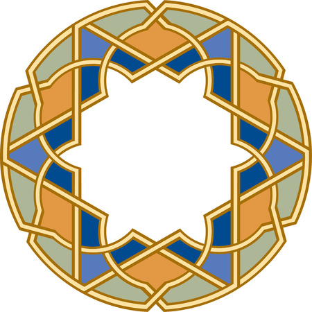 Arabesque design element, vector file, Colored Stock Vector - 24306568