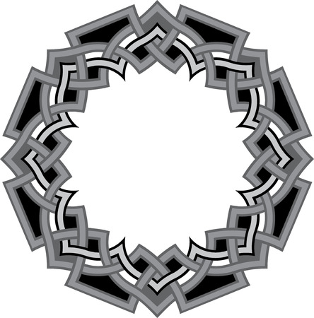 Arabesque design element, vector file, Grayscale Vector