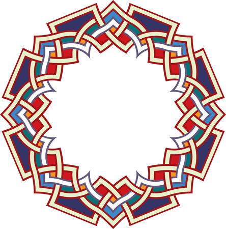 Arabesk ontwerp element, vector bestand, Gekleurde Stock Illustratie