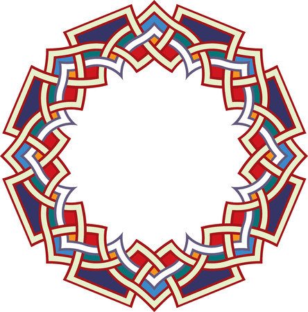 arabesque: Arabesque design element, vector file, Colored