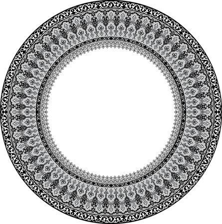 antique frames: Dise�o de detalle ornamento c�rculo, escala de grises