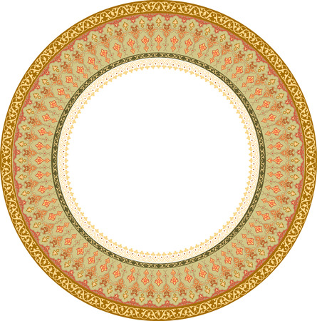Design of detailed ornament circle, Colored Vector