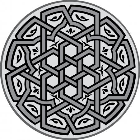 pattern: Arabesk ontwerp element, vector bestand, grijswaarden