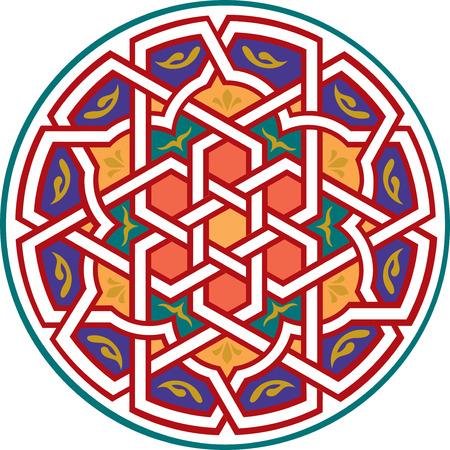 Arabesque design element, vector file, Colored Stock Vector - 24306600