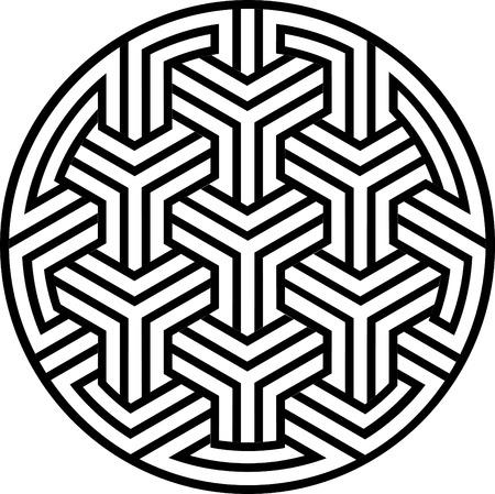 interweaving: Arabesque elemento di design, file vettoriali, scala di grigi