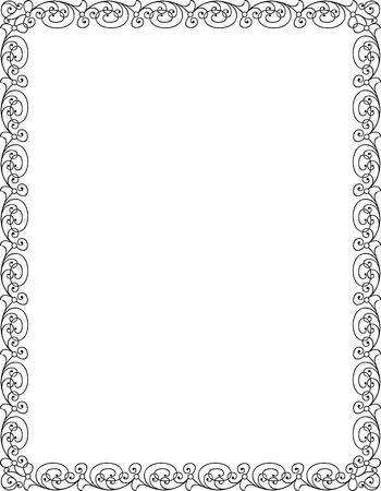 Simple lines, border frame, vector design Illustration