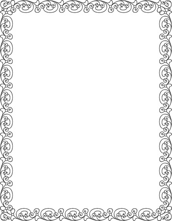 Simple lines, border frame, vector design Illustration
