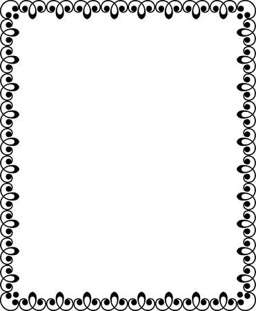 utsirad: Kaklat utsmyckade gränsen ram, Monokrom