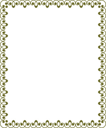 Tiled ornate border frame, Colored Stock Vector - 24306630