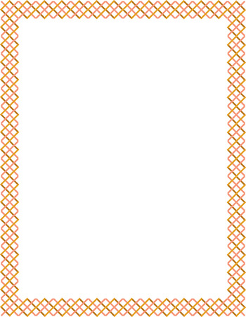 Tiled ornate border frame, Colored Stock Vector - 24306640