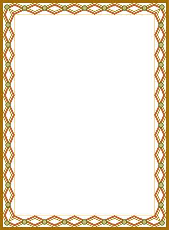 Tiled ornate border frame, Colored Vector