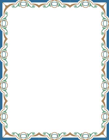 verschnörkelt: Gefliest verzieren Grenze Rahmen, Farbige