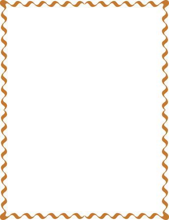 Eenvoudige lijnen, grens frame, vector ontwerp, Gekleurde Stock Illustratie