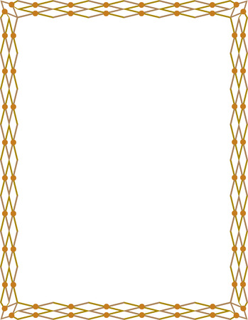 Tiled ornate border frame, Colored Stock Vector - 24306674