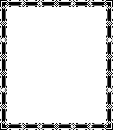 Tiled ornate border frame, Monochrome Stock Vector - 24306675