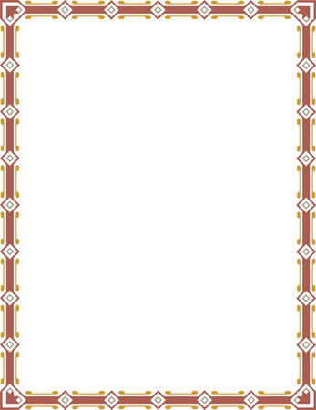 Tiled ornate border frame, Colored Vector