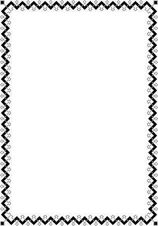 Tiled ornate border frame, Grayscale