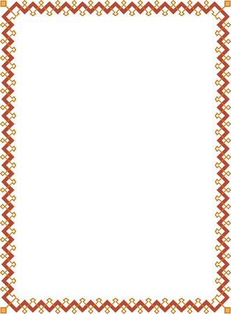 antique frames: Frontera marco ornamentado de azulejos, de color Vectores