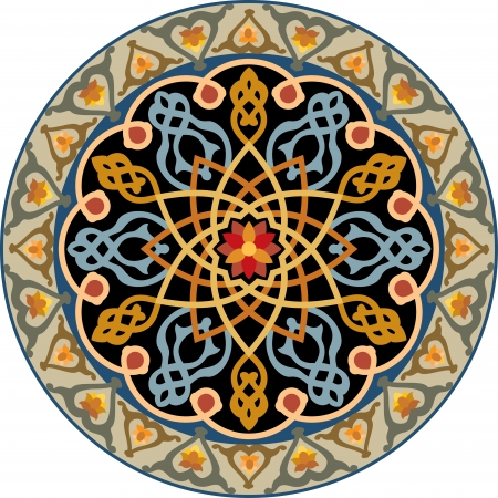 Arabesque decoratief element, vector bestand