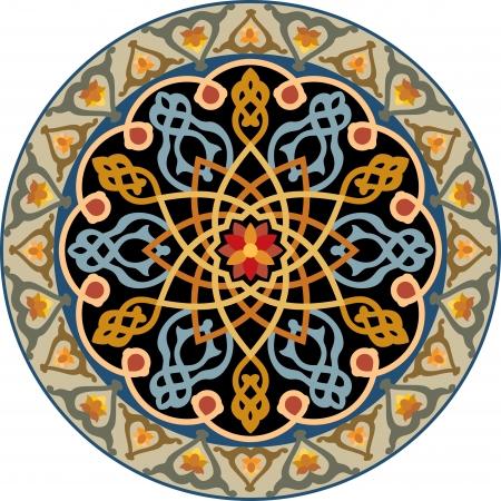 interweaving: Arabesque elemento decorativo, di file vettore