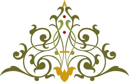 Decorative design element, vector file Vector