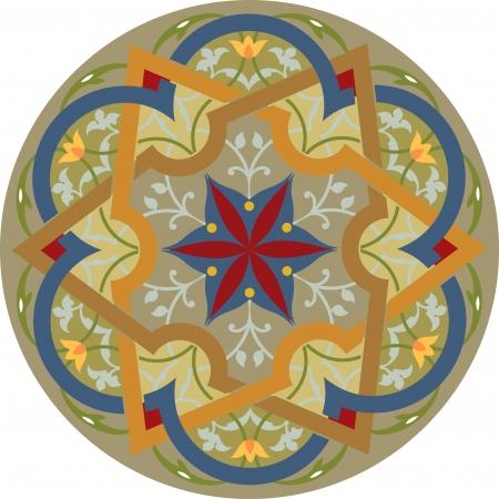Arabesque decorative design element, vector file Vector
