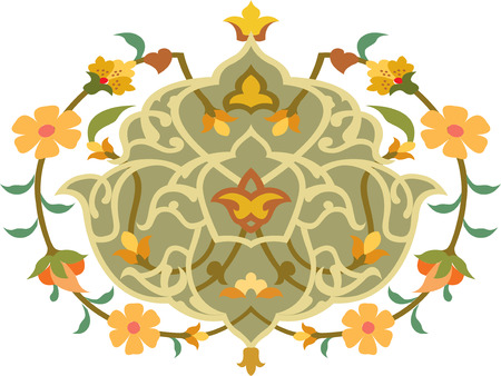 Flowers decorative design element, vector file Vector
