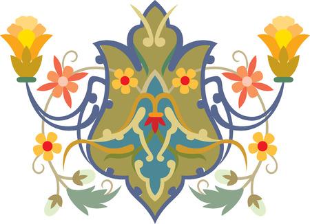 Flowers decorative design element, vector file Vector