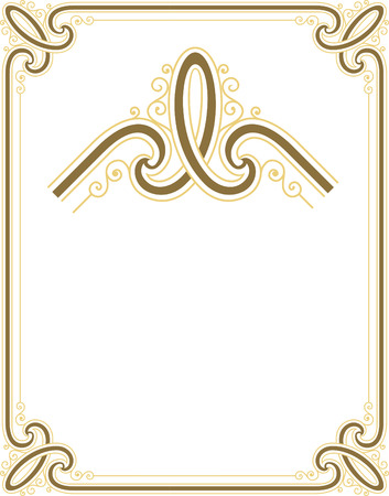 Stylish border frame with nice corners Stock Vector - 24306748