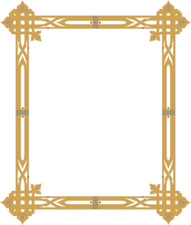 Ornamental border frame with corners Vector
