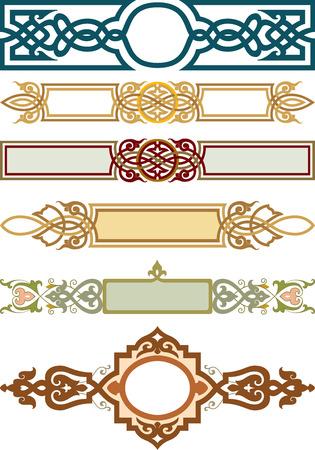 Set van decoratief element, lint stijl