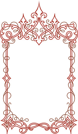 Stylish border frame Stock Vector - 24306770