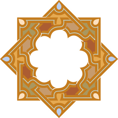 Arabesque decorative design element, vector file Vector