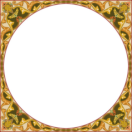 Garnished circle design, vector file Vector
