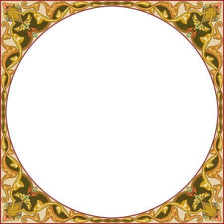 garnished: Garnished circle design, vector file