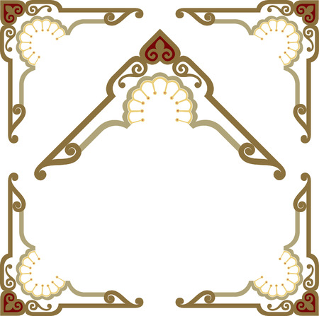 Stylish border frame Vector