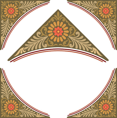 style: Old style border frame Illustration