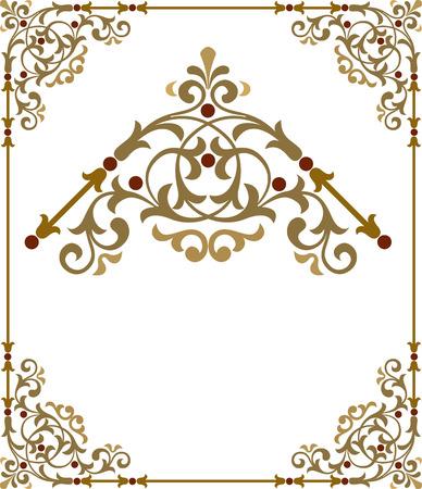 Marco de la frontera con estilo con agradables rincones Foto de archivo - 24306793