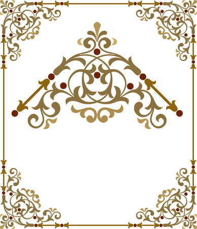 Stylish border frame with nice corners Stock Vector - 24306793